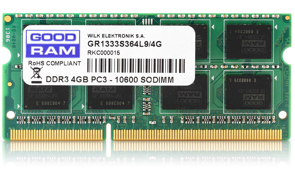 Goodram 4GB DDR3 PC3-12800 memory module 1600 MHz