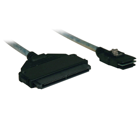 Tripp Lite Internal SAS Cable, mini-SAS (SFF-8087) to 4-in-1 32pin (SFF-8484), 3-ft (1M)