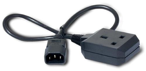 APC C14/BS1363 0.6m power cable Black C14 coupler