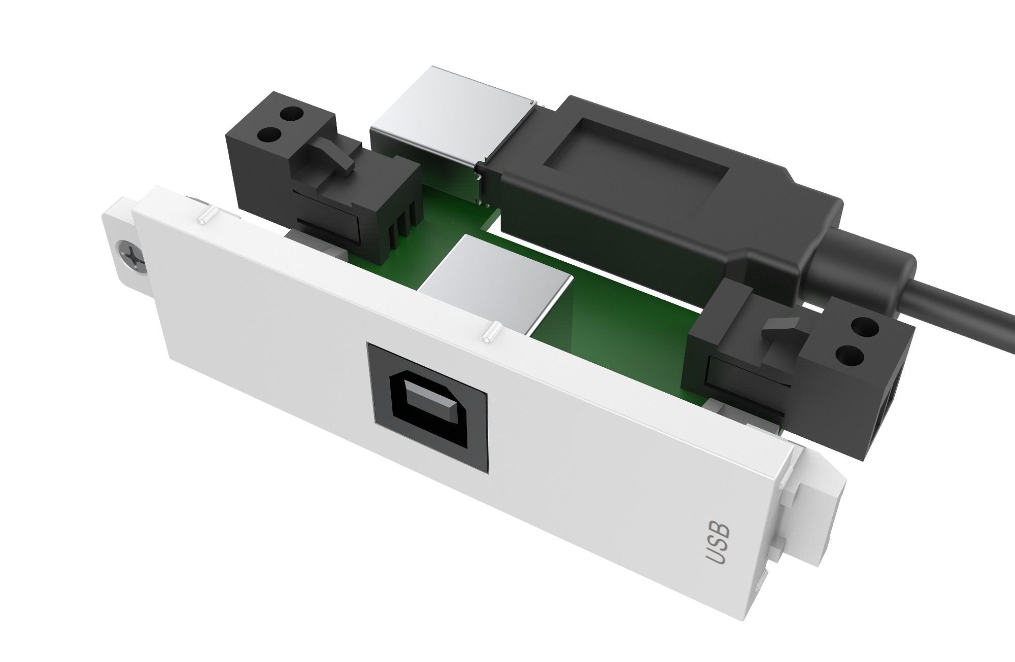 Vision TC3 USBB+ toma de corriente USB Blanco