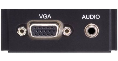 AMX HPX-AV100-RGB+A Black outlet box