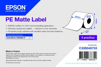 Epson C33S045733 printer label White Self-adhesive printer label