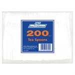 RY PLASTIC TEASPOONS WHITE PK200