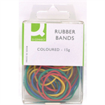 Q-CONNECT Q CONNECT RUBBER BANDS COLOURED 15G