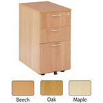 JEMINI FF JEMINI 3 DRAWER UNDER-DESK PED MAPLE