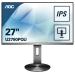 "AOC Pro-line U2790PQU computer monitor 68,6 cm (27"") 3840 x 2160 Pixels 4K Ultra HD LED Flat Zwart, Titanium"
