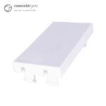 CONNEkT Gear Single Blanking Plate 25 x 50mm - White