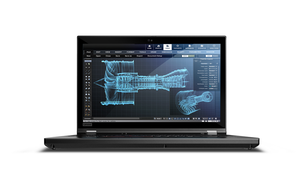 Lenovo ThinkPad P53 Black Mobile workstation 39.6 cm (15.6