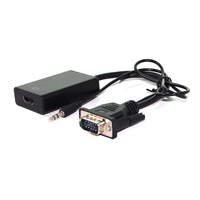 VALUE 12.99.3117 CABLE INTERFACE/GENDER ADAPTER VGA/3.5MM HDMI BLACK