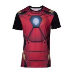 Marvel Iron Man Suit Sublimation T-Shirt, Male, Small, Multi-colour (TS178711MVL-S)