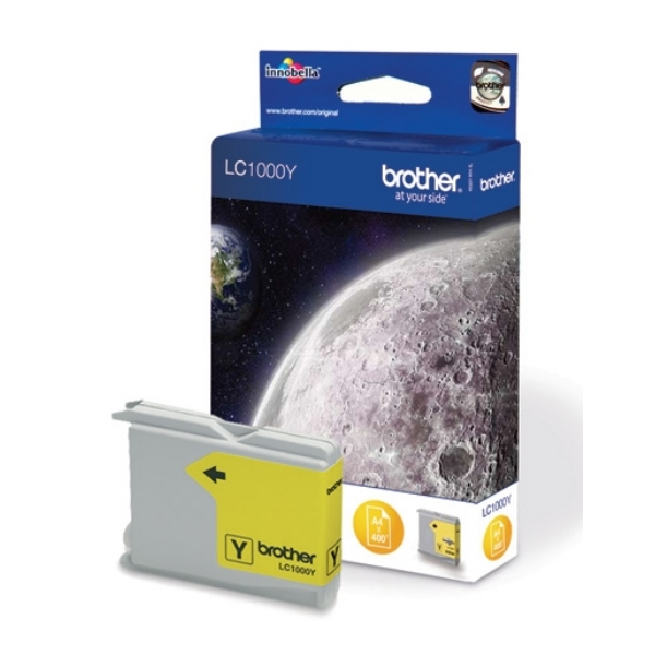Brother LC-1000Y Ink cartridge yellow, 400 pages @ 5% coverage, 10ml