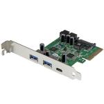 StarTech.com 5-Port USB 3.1 PCIe Card - 1x USB-C (10Gbps), 2x USB-A (5Gbps) + 1x 2-Port IDC (5Gbps)