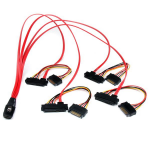 StarTech.com 50cm Internal Serial Attached SCSI Mini SAS Cable - SFF8087 to 4x SFF8482 SAS808782P50