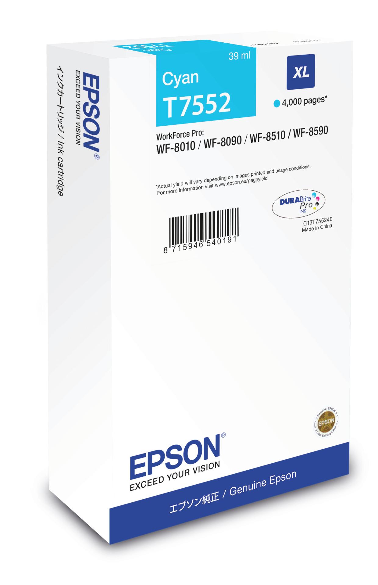 Epson Cartucho T7552 cian XL
