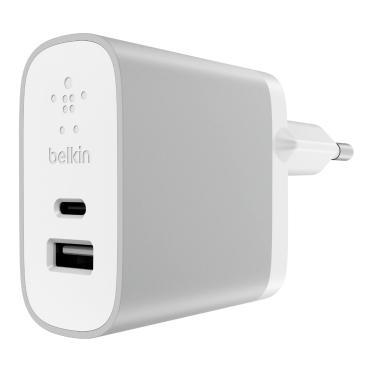 Belkin F7U011VFSLV Indoor Silver,White mobile device charger