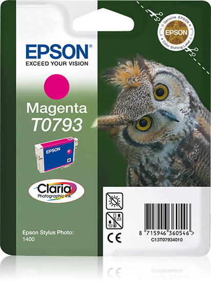Epson Owl inktpatroon Magenta T0793 Claria Photographic Ink