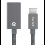 Kanex USB-C - USB-A 21cm 0.21m USB C USB A Grey USB cable