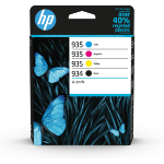 HP 6ZC72AE (934/935) Ink cartridge multi pack, 10ml + 3x4,5ml, Pack qty 4