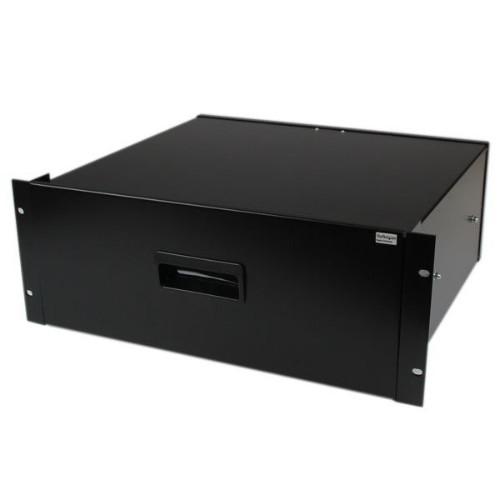 StarTech.com 4U Black Steel Storage Drawer for 19in Racks and Cabinets