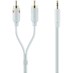Belkin 3.5mm/2xRCA 2m 2m 2 x RCA 3.5mm White audio cable