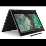 "Lenovo 500e Chromebook 29.5 cm (11.6"") 1366 x 768 pixels Touchscreen Intel® Celeron® N 4 GB LPDDR4-SDRAM 32 GB eMMC Wi-Fi 5 (802.11ac) Chrome OS Black"