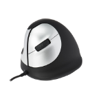 R-Go Tools R-Go HE Mouse, Ergonomic mouse, Medium (Hand Size 165-185mm), Left Handed, wired