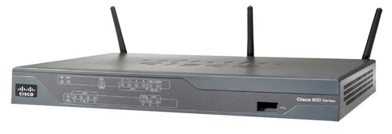 Cisco 887VA Fast Ethernet Black wireless router