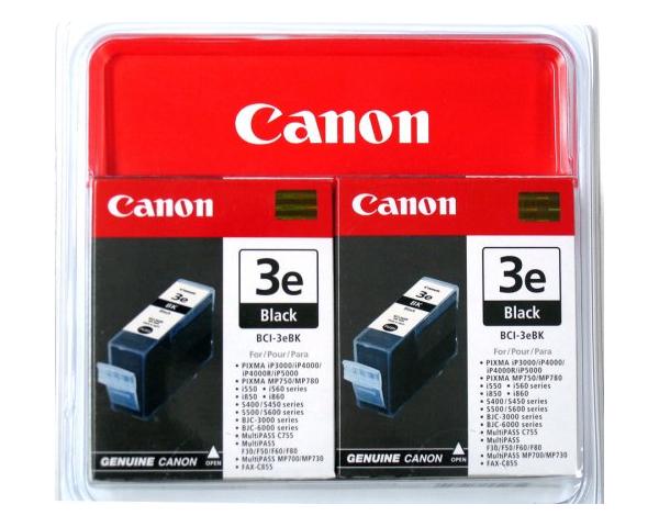 Canon BCI-3EBK, 2-pack inktcartridge Original Zwart Multipack 2 stuk(s)