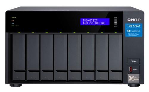 QNAP TVS-872XT-i5-16G 80TB 8x10TB Seagate Exos 8 Bay NAS Desktop Ethernet LAN Tower Black