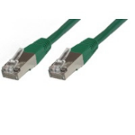 Microconnect Rj-45/Rj-45 Cat6 0.5m 0.5m Cat6 S/UTP (STP) Green networking cable