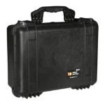 Peli 1520 Carry-on Black Rubber, Stainless steel