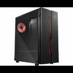 MSI MAG VAMPIRIC 010M Mid Tower Gaming Computer Case 'Black, 1x 120mm RGB PWM Fan, RGB Front Panel, Tempered Glass Panel, ATX, mATX, mini-ITX' 306-7G08P12-809