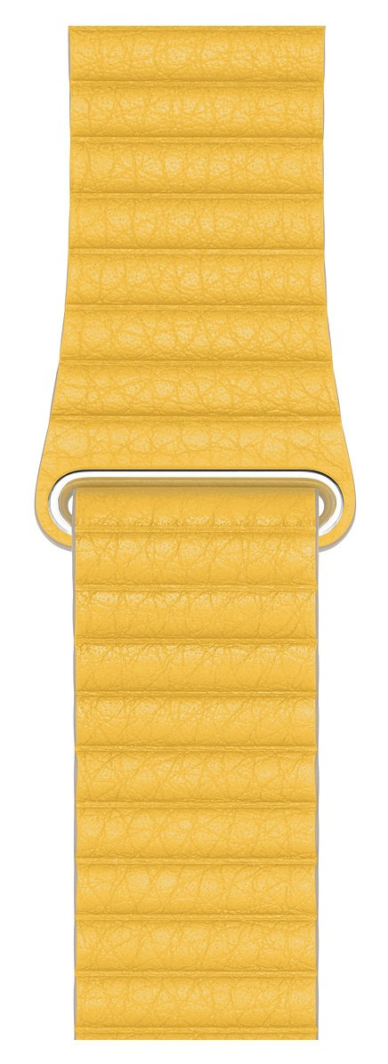 Apple MXAD2ZM/A smartwatch accessory Band Yellow Leather