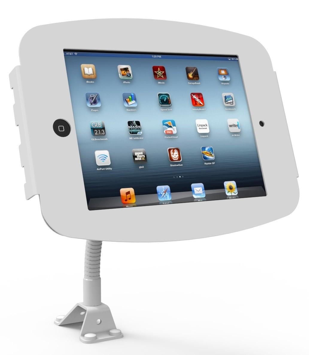 Maclocks Apple iPad 2/3/4 Mounting Kit - Mount, Anti-Theft Enclosure, Flexible Arm, White