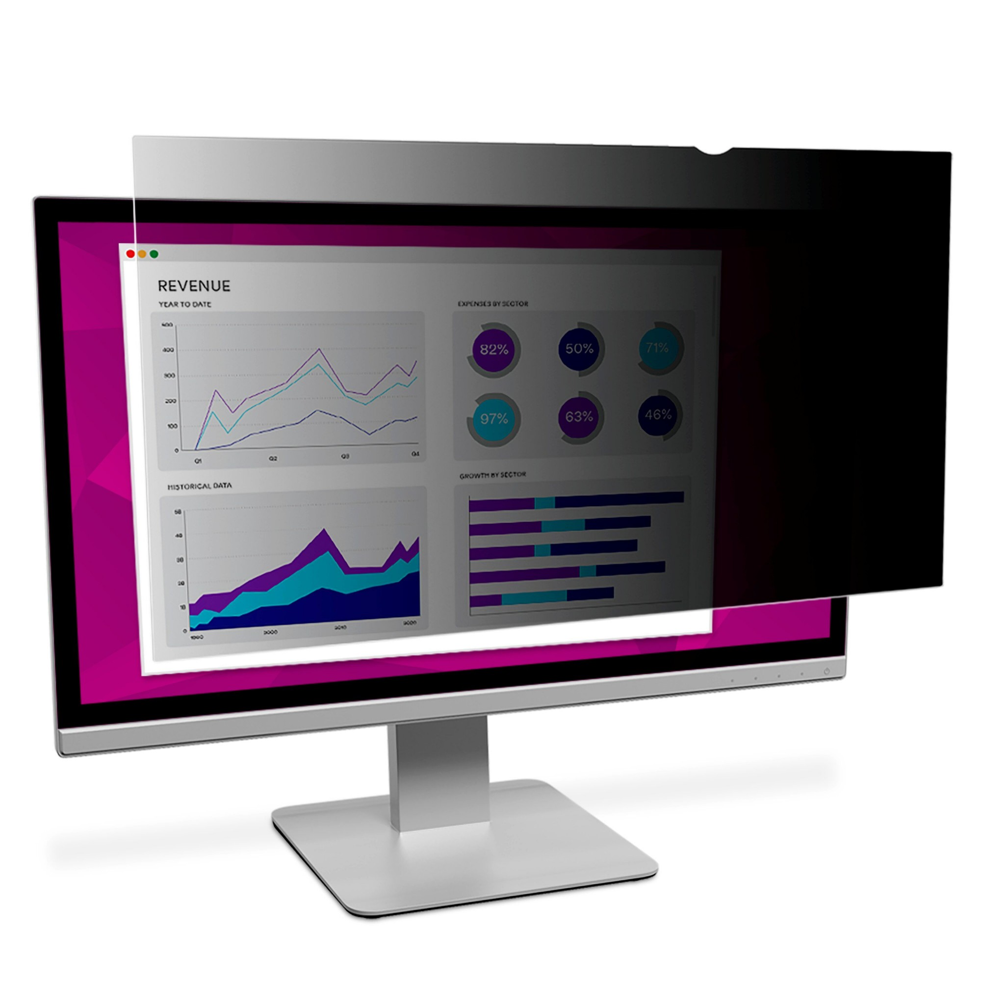 "3M High Clarity Privacy Filter for 24"" Widescreen Monitor"