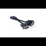 """Viewsonic CLOUD-CABLE-001 DVI cable 7.09"""" (0.18 m) 2 x DVI Black"""