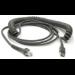 Zebra CBA-U29-C15ZBR cable USB 4,57 m USB 2.0 USB A Negro