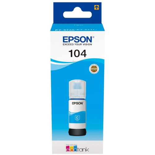 Epson C13T00P240 (104) Ink cartridge cyan, 7.5K pages, 70ml