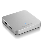 Sharkoon 4-Port USB 3.0 USB 3.0 (3.1 Gen 1) Type-A 5000Mbit/s Silver interface hub