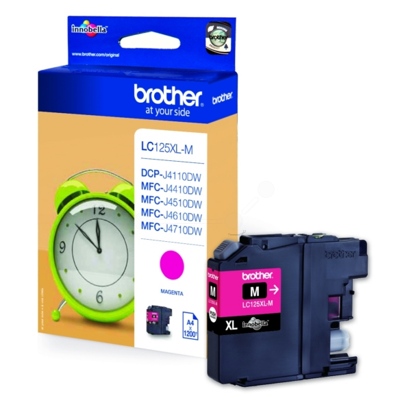 Brother LC-125XLM Ink cartridge magenta, 1.2K pages, 11ml LC125XLM