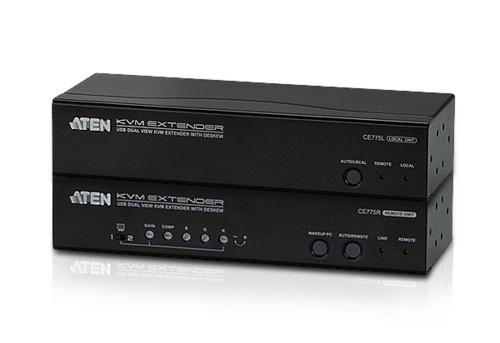 Aten CE775 AV extender AV transmitter & receiver Black