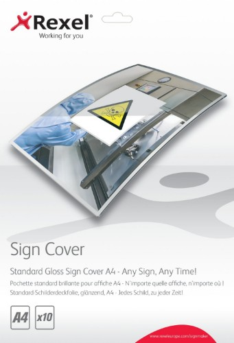 Rexel Standard Gloss Sign Covers A4 (10)