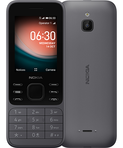 """Nokia 6300 4G 6.1 cm (2.4"""") 104.7 g Charcoal Feature phone"""