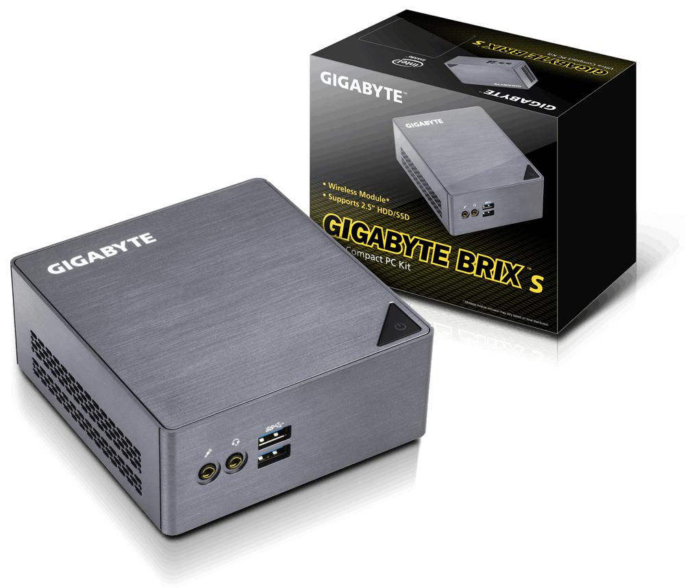 Gigabyte GB-BSI5H-6200 2.3GHz i5-6200U BGA1356 UCFF Grey barebone