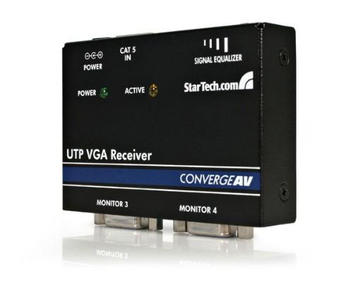 StarTech.com VGA Cat5 Receiver Black AV receiver