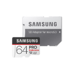 Samsung Micro SDXC 64GB Pro Endurance /w Adapter, UHS-1 SDR104, Class 10, Up to 100MB/s Read, 30MB/s Write,