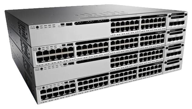 Cisco Catalyst WS-C3850-24P-E netwerk-switch Managed Zwart, Grijs Power over Ethernet (PoE)
