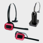 JPL X400 Monaural Ear-hook,Head-band Black,Red headset