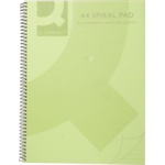 Q-CONNECT POLY SPIRAL A5 BOOK TRANS GREEN