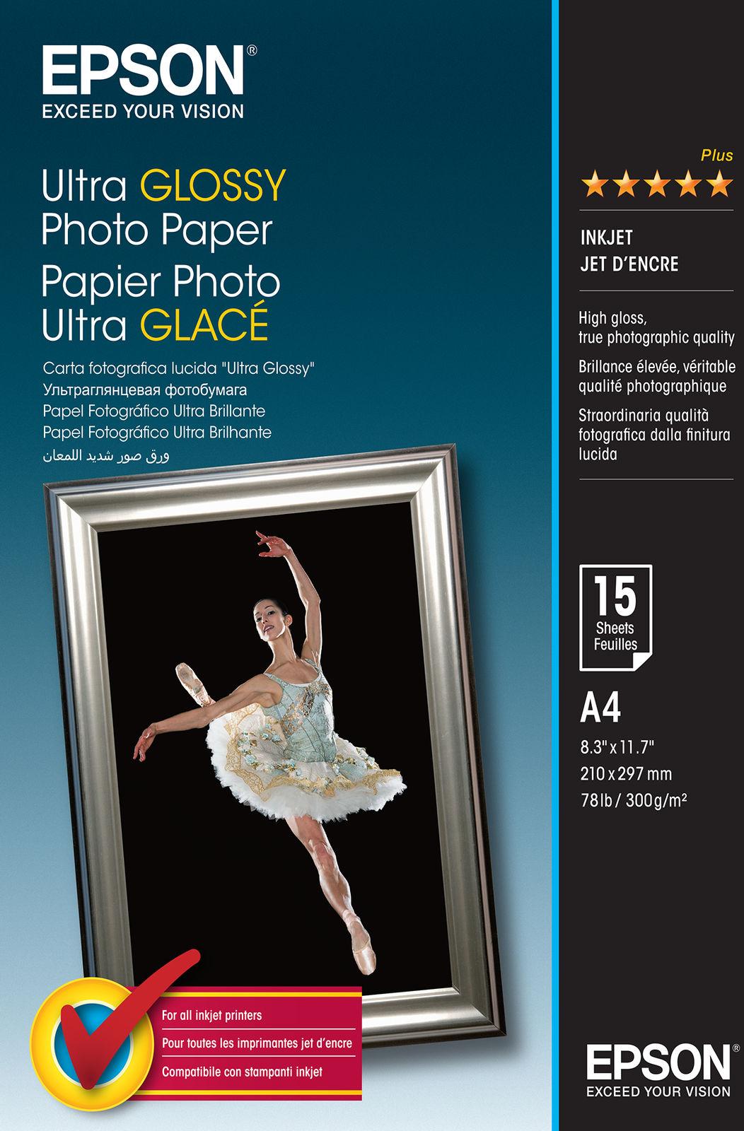 Epson Ultra Glossy Photo Paper - A4 - 15 Vellen
